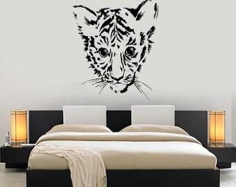 Wall Decal Vnyl Baby Tiger Cub Jungle Africa Mural Art 1459dz