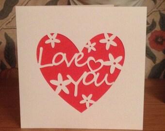 Papercut - Love You Card