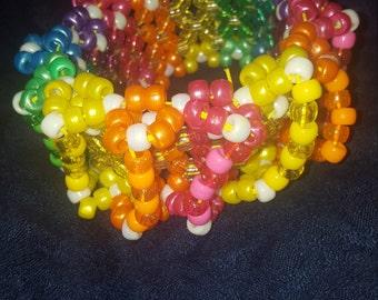 Rainbow 3D Kandi Cuff