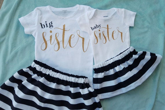 Big sister baby sister outfit set Matching sister outfit