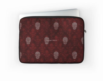 Victorian Skulls Red Laptop Sleeve! - Multiple Sizes Available!