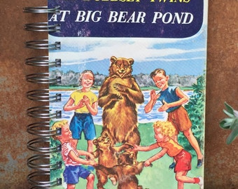 Vintage Book Journal, The Bobbsey Twins At Big Bear Pond