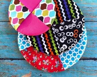 ITH Circle Patch Mug Rug DIGITAL Embroidery Design