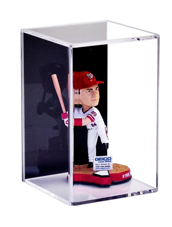 bobblehead display case handmade acrylic by betterdisplaycases. Black Bedroom Furniture Sets. Home Design Ideas