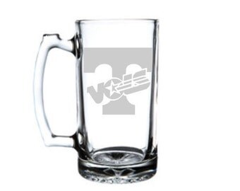 Tennessee Vols Glass Beer Mug, University of Tennessee Etched Beer Mug, Tennessee Volunteers, Team Logo, Any Design You Can Imagine