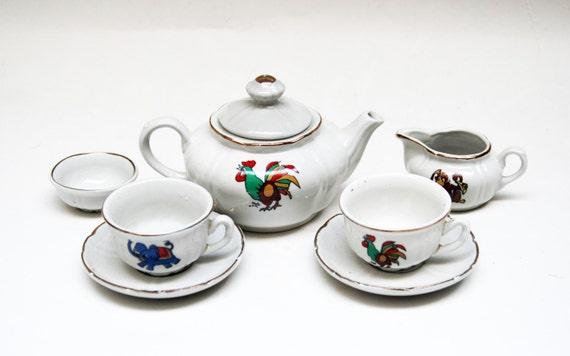 items similar to vintage porcelain china set kahla tea set boxed porcelain kids girl birthday. Black Bedroom Furniture Sets. Home Design Ideas