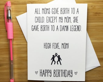 funny mom bday card  etsy, Birthday card
