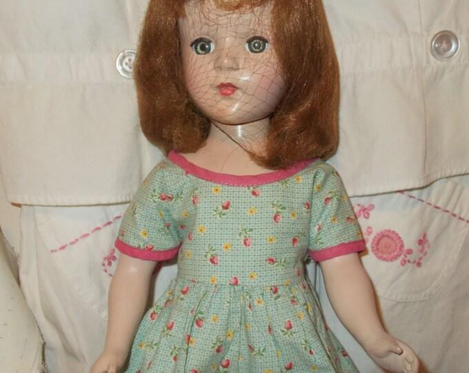 """18"""" Vintage 1950s American Character Sweet Sue Hard Plastic Sleep Eyes Walker Doll"""