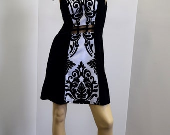 SAMPLE size 8-10 black and white dress