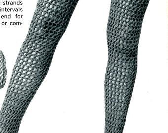 1960's Fishnet Stockings & Mesh Socks Crocheted PDF Pattern Instant Download