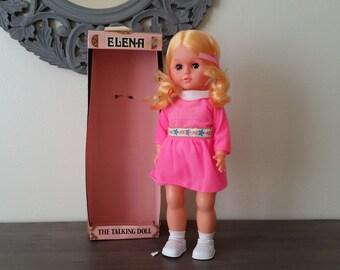 Vintage Doll Brunette Elena The Talking Doll