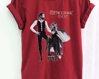 Fleetwood Mac Shirt Clothing Crimson Red Women Tshirt Tee Short Sleeve T-Shirt SMLXLXXL
