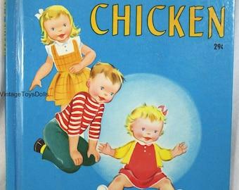 Vintage Wonder Books Baby Susan's Chicken 1951