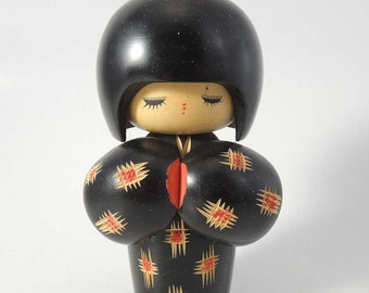 Vintage kokeshi doll Ref P