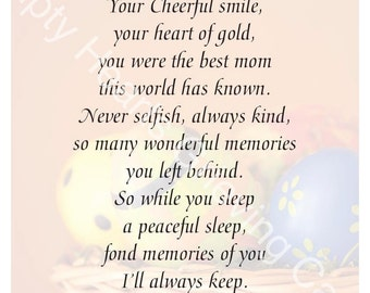 Easter Day Grieving Cards for Mom