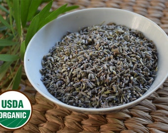 Organic Dried French Lavender Flowers. 1 oz