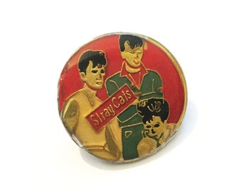 Vintage Stray Cats Pinback Concert Button