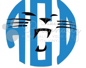 Carolina Panthers monogram decal