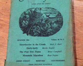 The Countryman Issue Book Magazine Journal. Dated Summer 1961 In Good Overall Condition.