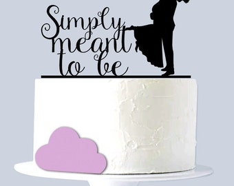 Simply meant to be - Wedding Cake Topper - Marine Corp Cake Topper A2032