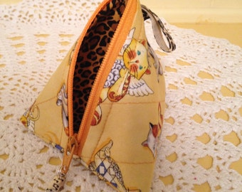 Scroll Kitty Mini Scrappy Zippered Everything Bag