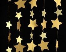 Gold Star Garland - Gold Garland, Wedding Garland, Gold Decor, Birthday Garland, Gold Party Decorations, Gold Decorations - GS005BlgdMtgd