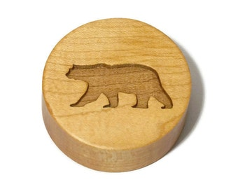 Polar bear cookie stamp, winter cookie decor, wooden cookie stamp, kids cookie decorating, Holiday baking, fun cookie shapes, animal cookies