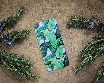 BANANA LEAF CASE, hard phone case, tropical iPhone case