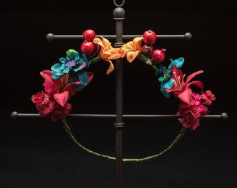 Fire Flower Crown - OOAK