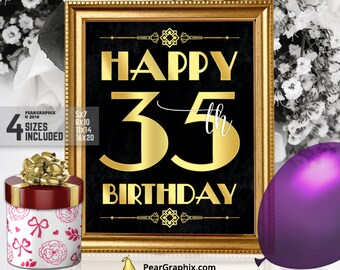 35 years old etsy for 35th birthday decoration ideas