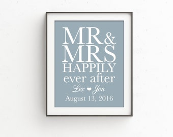 Happily Ever After Gift for Couple | Wedding Gift | Wedding Sign | Personalized | WEDDING Gift for Couple | Gift for Her | Engagement Gift
