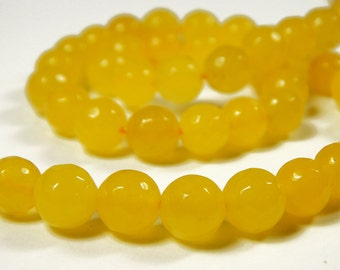 15 Inch Strand - 8mm Faceted South American Topaz Beads - Gemstone Beads - Jewelry Supplies