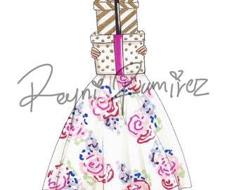 Instant download fashion illustration, printable fashion illustration, printable sketch, comercial licence