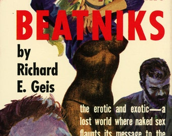 pulp art print The Beatniks  —  vintage pulp paperback cover repro