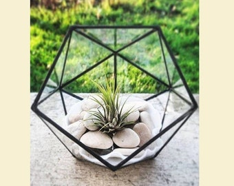 Small stained glass terrarium