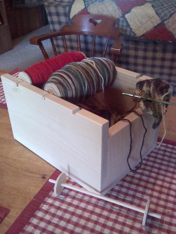 Wooden Knitting Wool Holder : Yarn holder organizer wood knitting