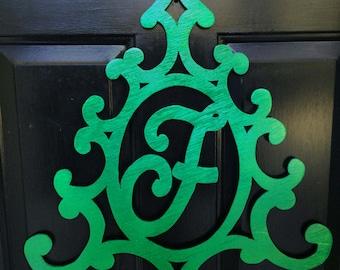 Christmas Tree Initial Door Decoration