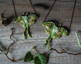"Necklace ""Luna Moths"""