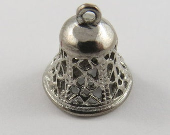 Mechanical Bell That Makes a Nice Ring Silver Charm of Pendant.