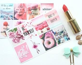 Inspiring Stickers, Positive Stickers, Affirmation Stickers, Motivational Stickers, Quote Stickers, Full Box Stickers, fits Erin Condren