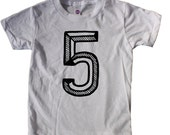 Fifth Birthday Shirt, Number Five Shirt,  5th Birthday baseball raglan, 5 shirt, 5th Birthday Outfit, fifth Birthday Shirt Girl boy