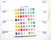 Mini Planner (matte planner stickers, perfect for planners)