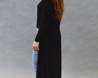 Floor Length Long Sleeve Duster Cardigan