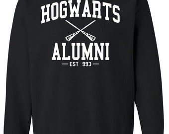 Hogwarts Alumni Sweatshirt Harry Potter Clothing Harry Potter Hoodies