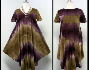 New Summer Exclusive & Adorable Latest Design Swingy and Swirly Tie-Dye Tunic with Dual Pocket on Sides.Only One Available.