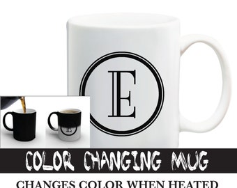 color changing initial letter mug black color changing mug personalized mug available a z alphabet mug