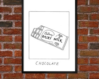 Badly Drawn Chocolate Bar - Poster