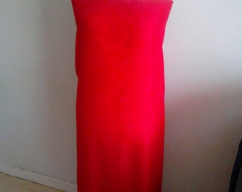 Red tube dress