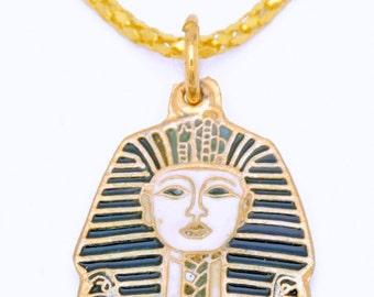 King Tut Tutankhamun Ancient Egyptian Pendant 34x20mm