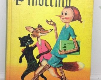 Vintage Pinocchio - Vintage King Arthur - 1960s Pinocchio - 1960s king Arthur - companion library - vintage children's book - 2 in 1 book